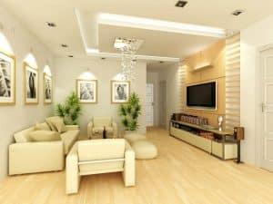 màu sơn phòng khách nhà ống 4