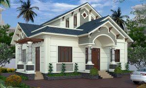 Thiết kế mái thái với màu sắc ngoại thất hiện đại