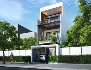 Mẫu thiết kế nhà 3 tầng 40m2 4