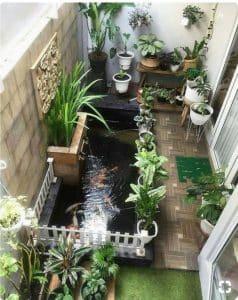 mẫu sân vườn hiên nhà thoáng đãng