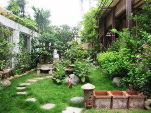 mẫu sân vườn rộng rãi, sang trọng