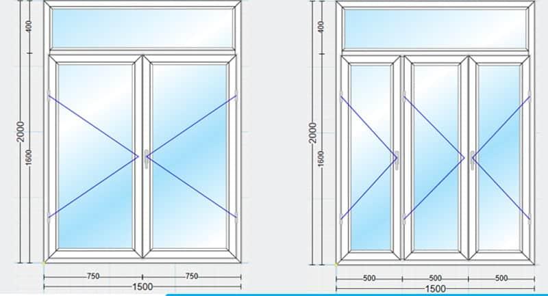 kích thước cửa sổ 8