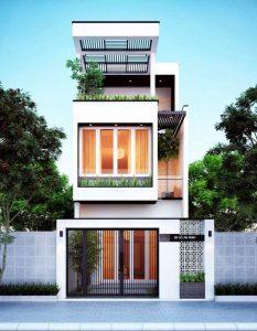 Mẫu thiết kế nhà 3 tầng 40m2 3