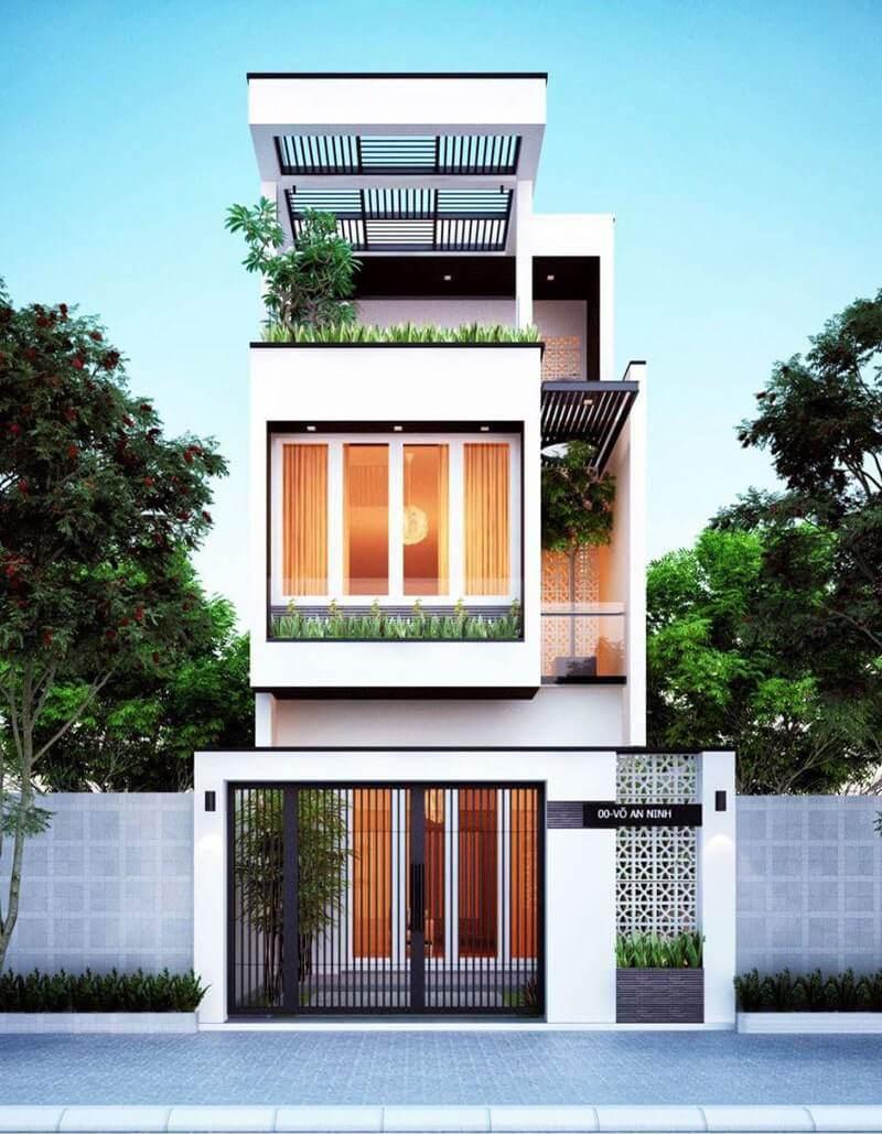 Mẫu thiết kế nhà phố 6x8m 19