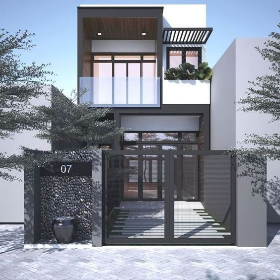 Mẫu thiết kế nhà phố 6x8m