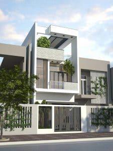 Mẫu thiết kế nhà 3 tầng 40m2 1