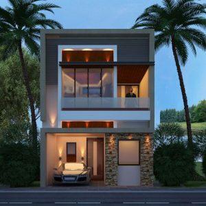 Mẫu thiết kế nhà phố 6x8m 2
