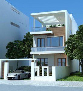 Mẫu thiết kế nhà 3 tầng 40m2 2