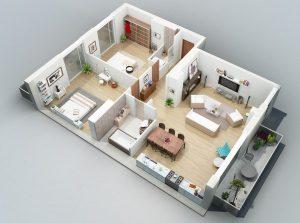 Bản vẽ 3D nội thất