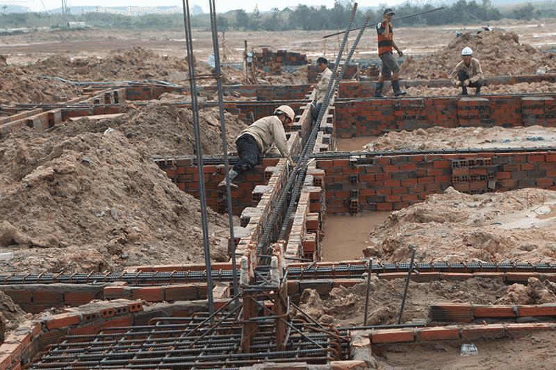 Đơn giá thi công đào móng nhà, đào móng công trình bằng thủ công