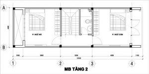 Mẫu thiết kế nhà phố 3 tầng 1 tum 15
