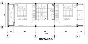 Mẫu thiết kế nhà phố 3 tầng 1 tum 16