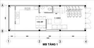 Mẫu thiết kế nhà phố 3 tầng 1 tum 13