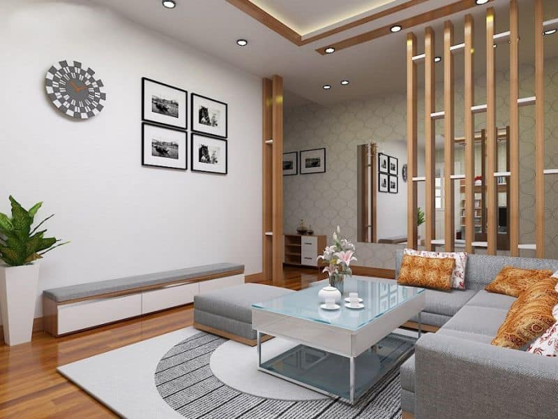 kích thước thông dụng lam gỗ phòng khách