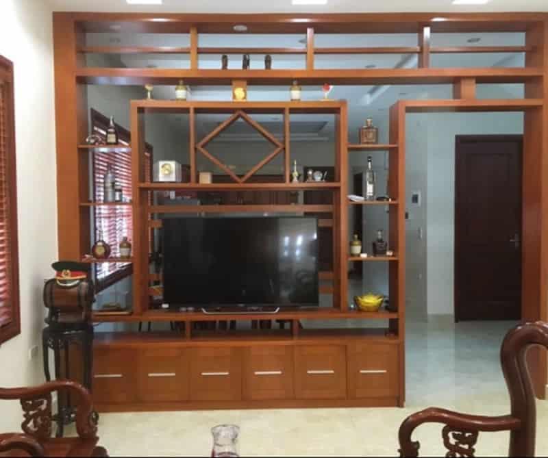 mẫu lam gỗ phòng khách đơn giản