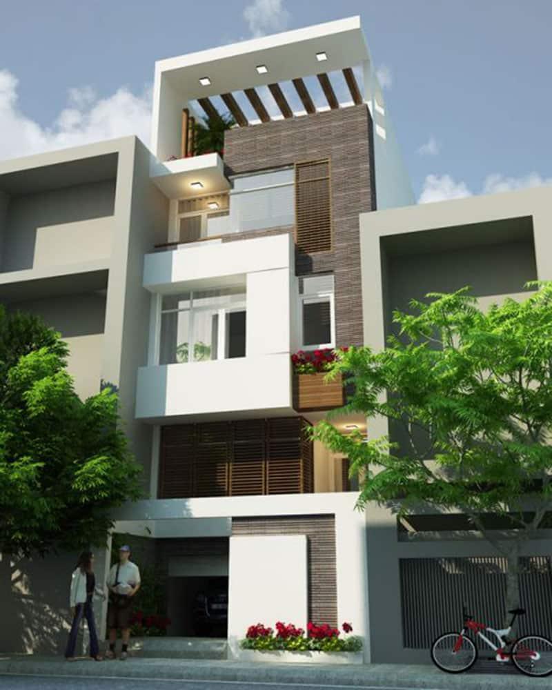 Mẫu thiết kế nhà 4 tầng sang trọng