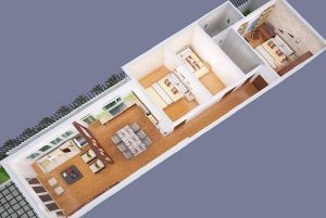 thiết kế nhà cấp 4 3 phòng ngủ 20