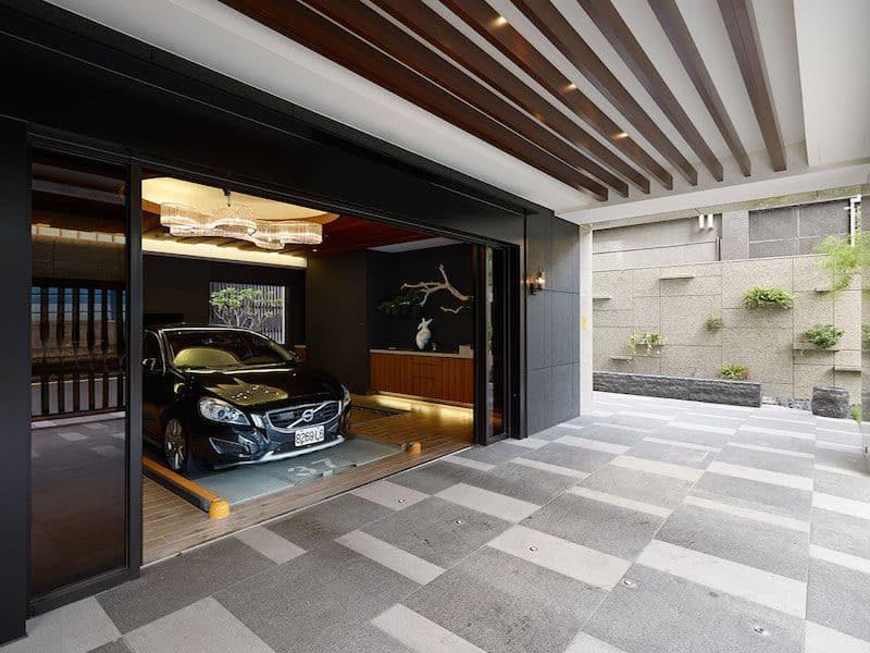 Thiết kế nhà để xe cho nhà phố