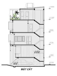 thiết kế nhà phố mặt tiền 7m 13