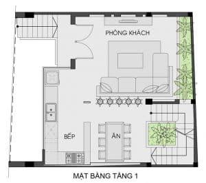 thiết kế nhà phố mặt tiền 7m 15