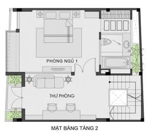 thiết kế nhà phố mặt tiền 7m 16