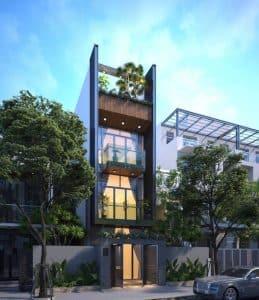 thiết kế nhà phố mặt tiền 18