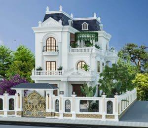mẫu biệt thự tân cổ điển 3 tầng đẹp 012
