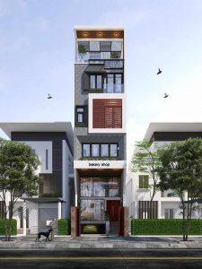 thiết kế nhà phố 4x16m 16