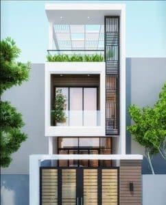 thiết kế nhà phố 2 tầng 1 tum 12