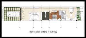 thiết kế nhà phố 2 tầng 1 tum 16