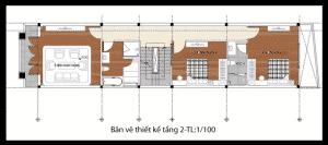 thiết kế nhà phố 2 tầng 1 tum 17