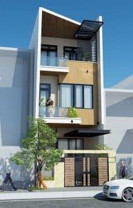 thiết kế nhà phố 2 tầng 1 tum 4
