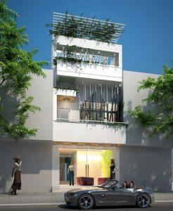 thiết kế nhà phố 2 tầng 1 tum 13