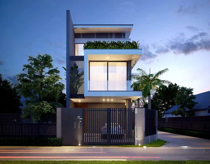 nhà 2 tầng xây trên nền đất yếu