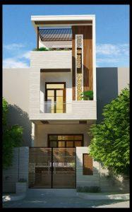thiết kế nhà phố 2 tầng 1 tum 21
