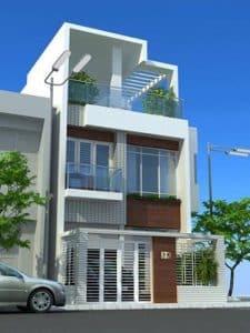 thiết kế nhà phố 2 tầng 1 tum 23