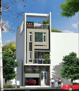 thiết kế nhà phố 2 tầng 1 tum 7