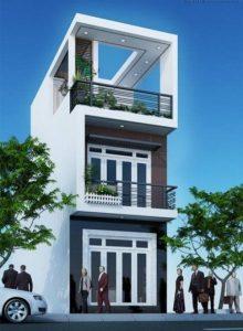 thiết kế nhà phố 2 tầng 1 tum 11