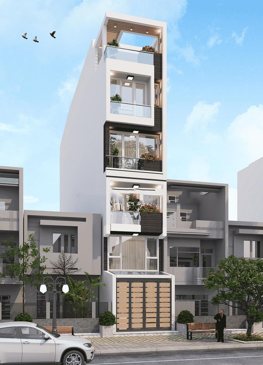 thiết kế nhà phố 7 tầng