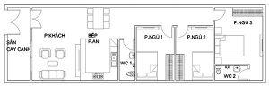 thiết kế nhà cấp 4 5x20 11