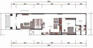 thiết kế nhà cấp 4 5x20 4