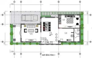thiết kế nhà cấp 4 5x20 7
