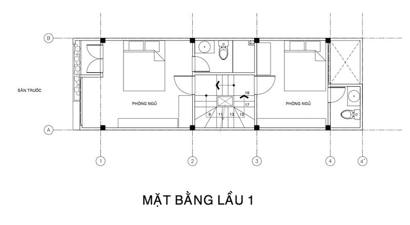 thiết kế nhà phố 4x16m 3