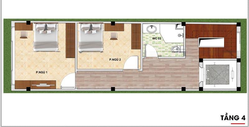 thiết kế nhà phố 7 tầng 3