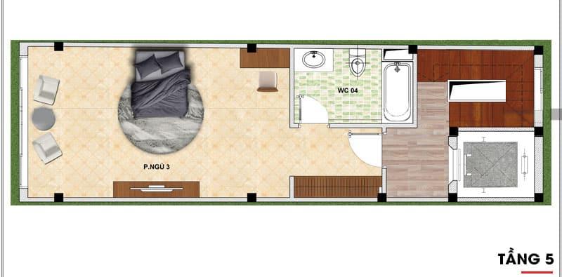 thiết kế nhà phố 7 tầng 4