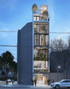 thiết kế nhà phố 7 tầng 7