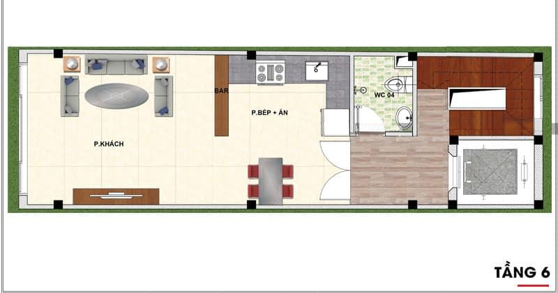 thiết kế nhà phố 7 tầng 5