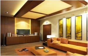 trang trí trần nhà bằng gỗ 11