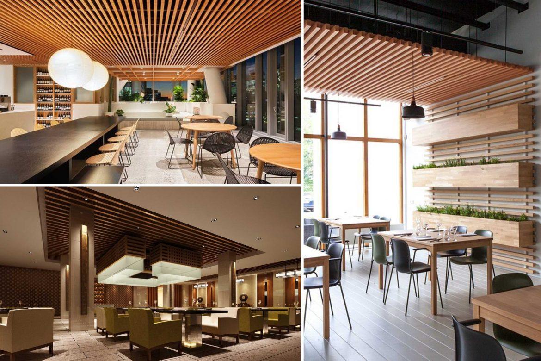 trang trí trần nhà bằng gỗ
