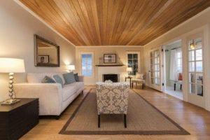 trang trí trần nhà bằng gỗ 9